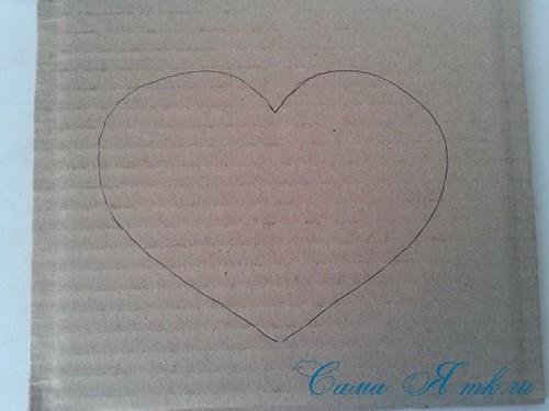 сердечки из атласных лент ко дню святого валентина своими руками 2