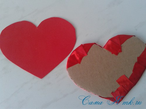 сердечки из атласных лент ко дню святого валентина своими руками 20