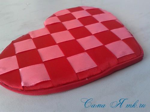 сердечки из атласных лент ко дню святого валентина своими руками 25
