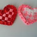сердечки из атласных лент ко дню святого валентина своими руками 32