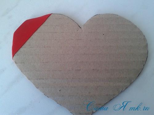 сердечки из атласных лент ко дню святого валентина своими руками 4