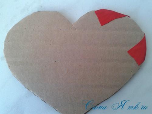 сердечки из атласных лент ко дню святого валентина своими руками 6