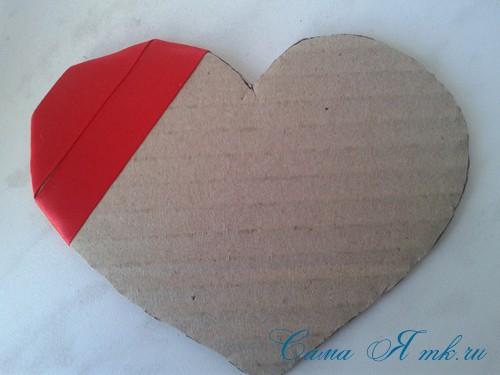 сердечки из атласных лент ко дню святого валентина своими руками 7