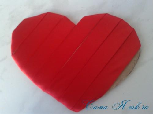 сердечки из атласных лент ко дню святого валентина своими руками 8