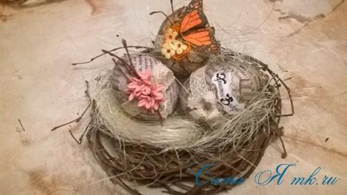 декупаж украшение пасхальных яиц вместе с детьми подручными материалами 10