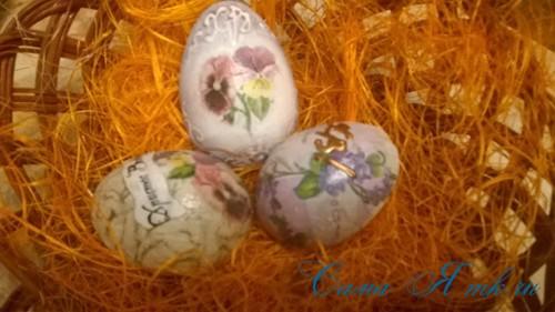 декупаж украшение пасхальных яиц вместе с детьми подручными материалами 11