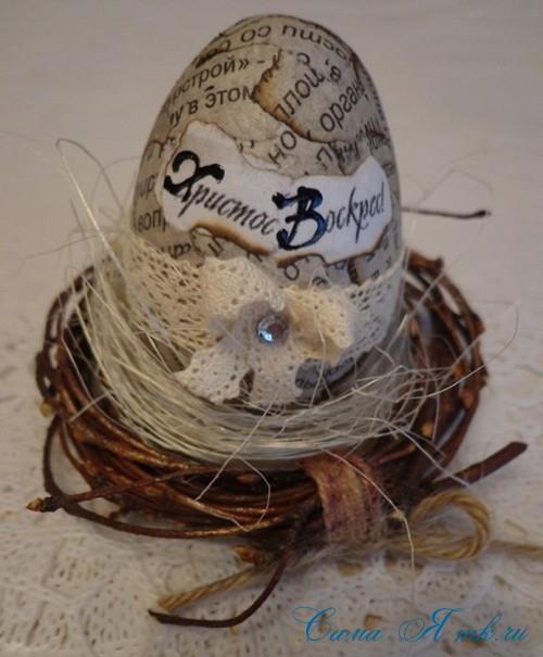 декупаж украшение пасхальных яиц вместе с детьми подручными материалами 27