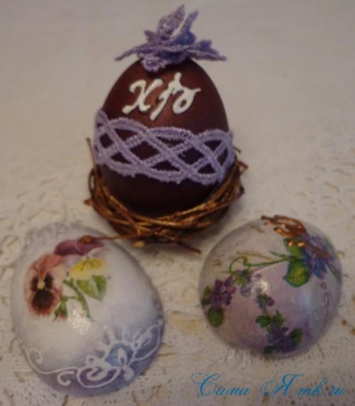 декупаж украшение пасхальных яиц вместе с детьми подручными материалами 28