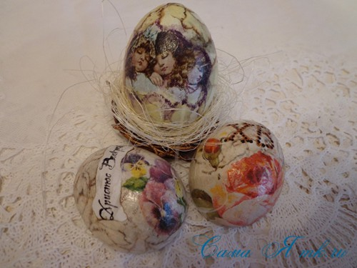 декупаж украшение пасхальных яиц вместе с детьми подручными материалами 30