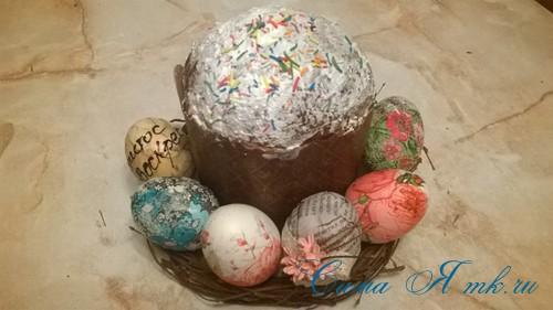 декупаж украшение пасхальных яиц вместе с детьми подручными материалами 9