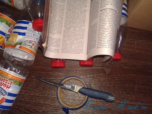 как сделать пуф из пластиковых бутылок 2