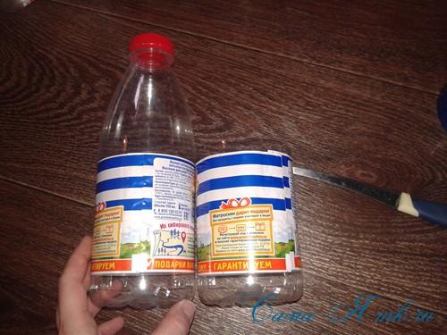 как сделать пуф из пластиковых бутылок 5