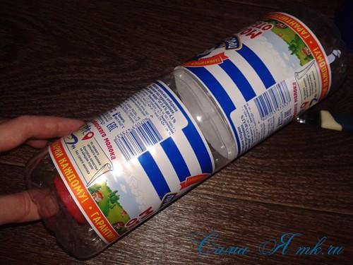 как сделать пуф из пластиковых бутылок 6