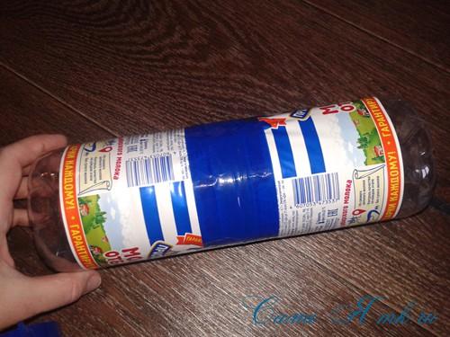 как сделать пуф из пластиковых бутылок 7