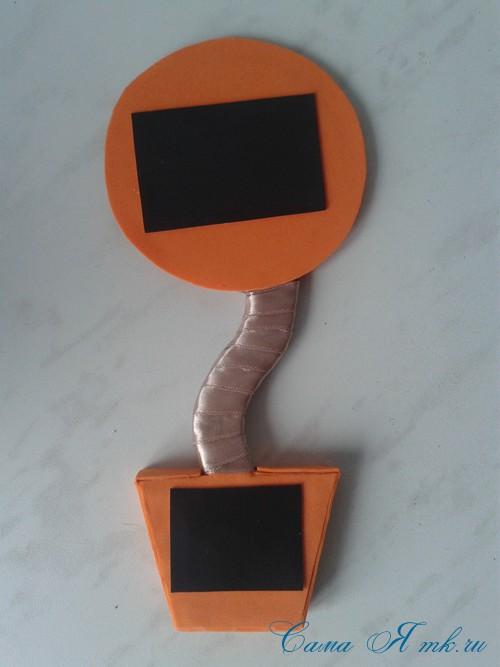 топиарий магнит на холодильник из картона своими руками и сизаля 10