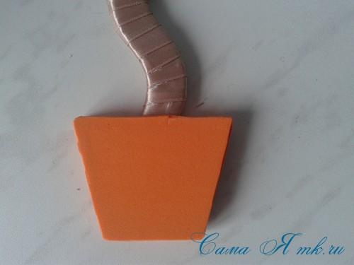 топиарий магнит на холодильник из картона своими руками и сизаля 11