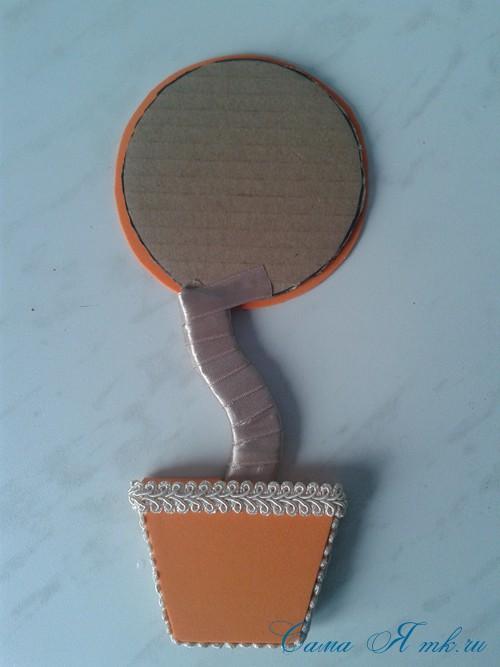 топиарий магнит на холодильник из картона своими руками и сизаля 14