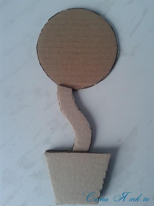 топиарий магнит на холодильник из картона своими руками и сизаля 4