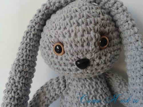 Заяц с длинными ушами в стиле тильда вязаный крючком ...
