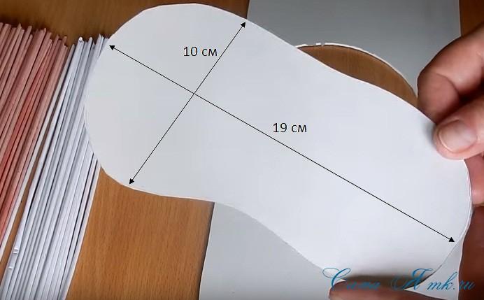 ботинок башмак из бумажных газетных трубочек технология плетения 1