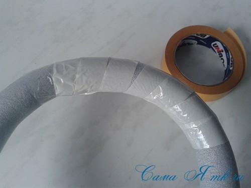 весенний пасхальный венок из сизаля и трубы для утепления труб термофлекса 5