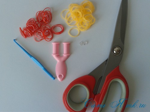 способ плетения резинок на рогатке рыбий хвост 1