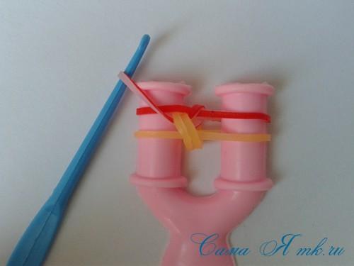 способ плетения резинок на рогатке рыбий хвост 12