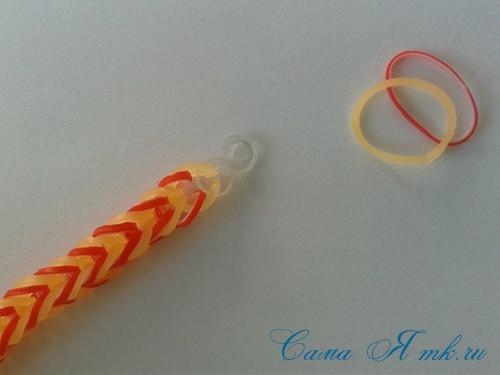 способ плетения резинок на рогатке рыбий хвост 25