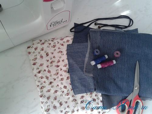 сумка из старых джинс джинсовой ткани схема мастер-класс мк своими руками 1