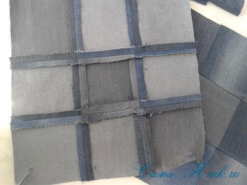 сумка из старых джинс джинсовой ткани схема мастер-класс мк своими руками 10