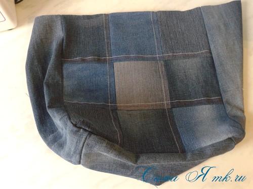 сумка из старых джинс джинсовой ткани схема мастер-класс мк своими руками 13