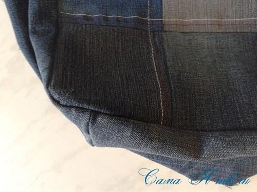 сумка из старых джинс джинсовой ткани схема мастер-класс мк своими руками 14