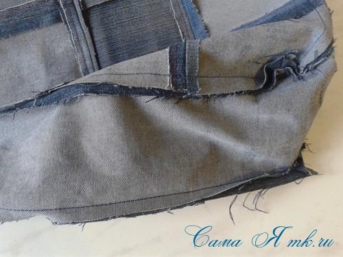 сумка из старых джинс джинсовой ткани схема мастер-класс мк своими руками 16