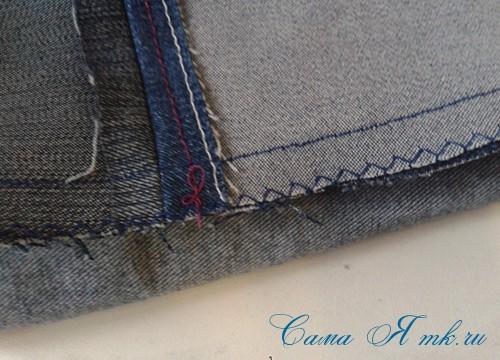 сумка из старых джинс джинсовой ткани схема мастер-класс мк своими руками 18