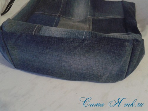 сумка из старых джинс джинсовой ткани схема мастер-класс мк своими руками 25