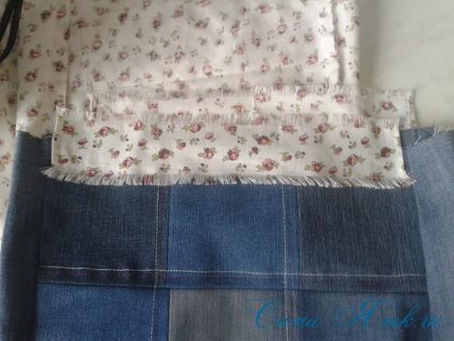 сумка из старых джинс джинсовой ткани схема мастер-класс мк своими руками 27