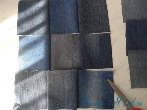 сумка из старых джинс джинсовой ткани схема мастер-класс мк своими руками 3