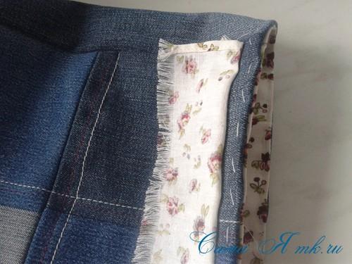 сумка из старых джинс джинсовой ткани схема мастер-класс мк своими руками 32
