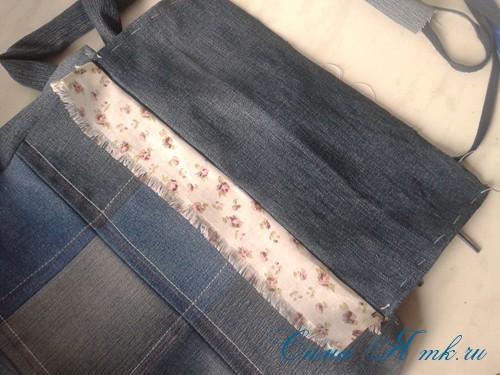 сумка из старых джинс джинсовой ткани схема мастер-класс мк своими руками 39