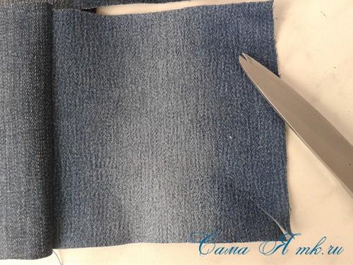 сумка из старых джинс джинсовой ткани схема мастер-класс мк своими руками 4