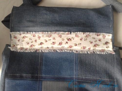 сумка из старых джинс джинсовой ткани схема мастер-класс мк своими руками 40