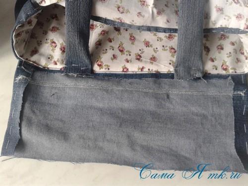 сумка из старых джинс джинсовой ткани схема мастер-класс мк своими руками 42