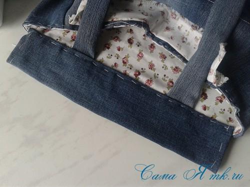 сумка из старых джинс джинсовой ткани схема мастер-класс мк своими руками 43