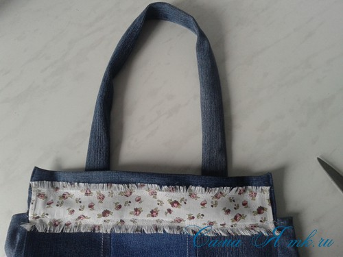 сумка из старых джинс джинсовой ткани схема мастер-класс мк своими руками 45