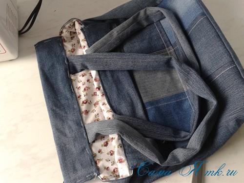 сумка из старых джинс джинсовой ткани схема мастер-класс мк своими руками 49