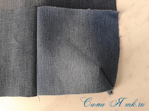 сумка из старых джинс джинсовой ткани схема мастер-класс мк своими руками 5