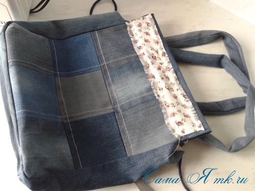 сумка из старых джинс джинсовой ткани схема мастер-класс мк своими руками 50
