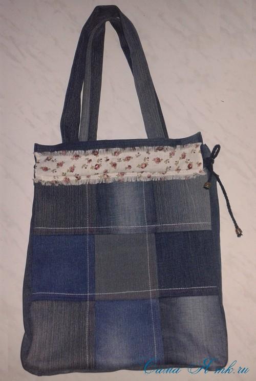 сумка из старых джинс джинсовой ткани схема мастер-класс мк своими руками 51