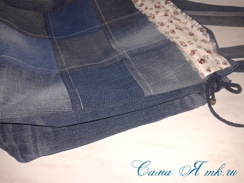 сумка из старых джинс джинсовой ткани схема мастер-класс мк своими руками 54