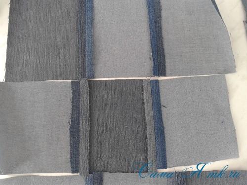 сумка из старых джинс джинсовой ткани схема мастер-класс мк своими руками 7